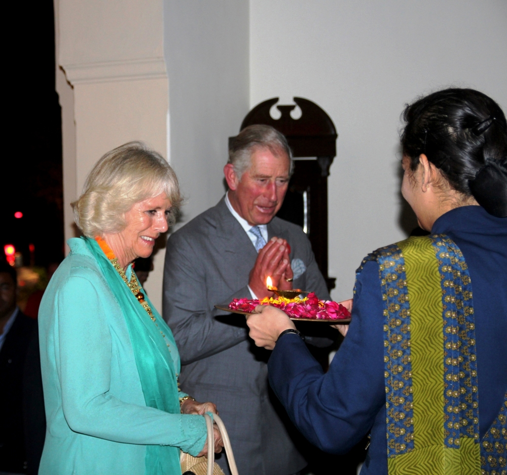 The Prince of Wales - Prince Charles and his wife, Camilla - the Duchess of Cornwall at Ananda in the Himalayas
