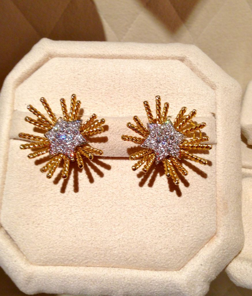 verdura gold and diomond earings