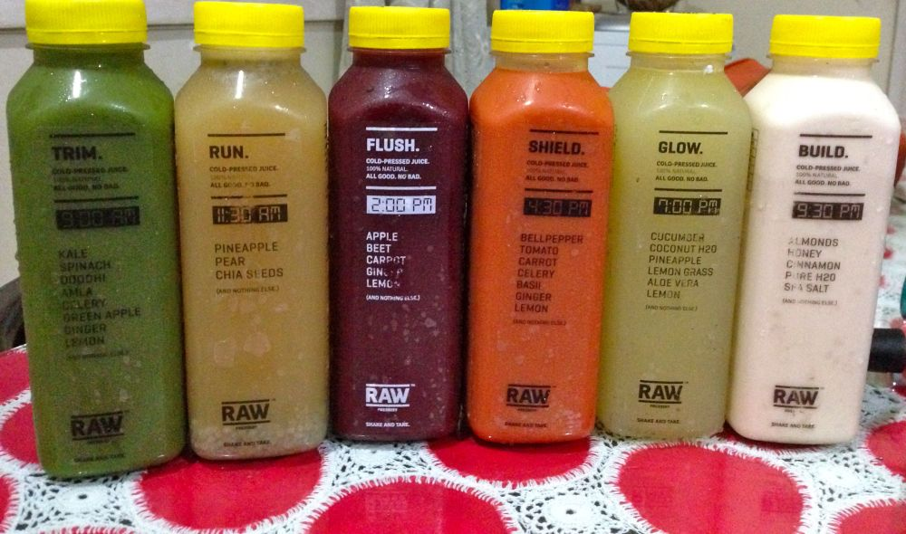 raw juices six