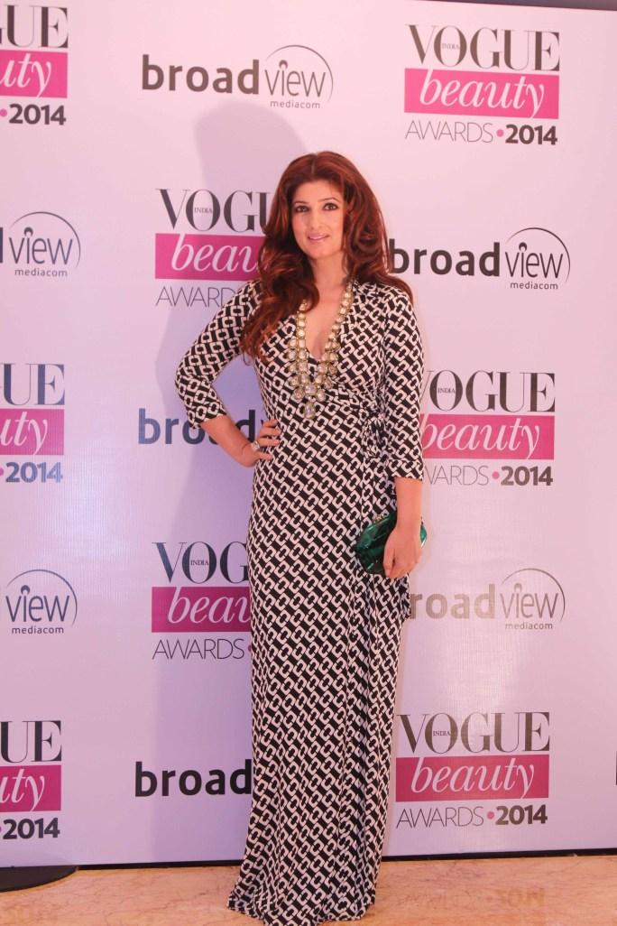 Twinkle Khanna, winner of 'Timeless Beauty' at the Vogue Beauty Awards 2014,Taj Lands End,Mumbai